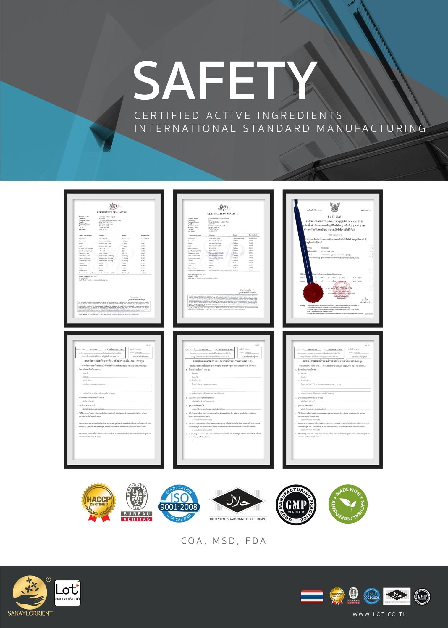LOT SAFETY ความปลอดภัย ในการใช้ ผลิตภัณฑ์ ลอต ลอเรียนท์